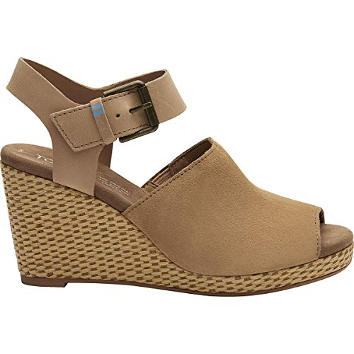 Toms Women's Tropez Wedge Sandal (Shoes Size 8 Toms Womens Wedges)