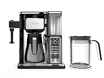 Ninja Coffee Bar Auto-iQ Programmable Coffee Maker with 6 Brew Sizes, 5 Brew Options, Milk Frother, Removable Water Reservoir, Stainless Carafe (CF097) by Ninja