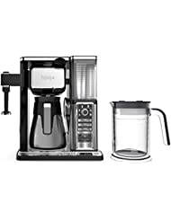 Ninja Coffee Bar Auto-iQ Programmable Coffee Maker with 6 Brew Sizes, 5 Brew Options, Milk Frother, Removable Water Reservoir, Stainless Carafe (CF097)
