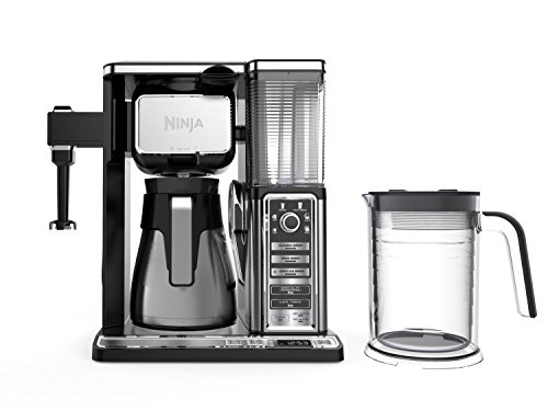 - Ninja Coffee Bar Auto-iQ Programmable Coffee Maker with 6 Brew Sizes, 5 Brew Options, Milk Frother, Removable Water Reservoir, Stainless Carafe (CF097)