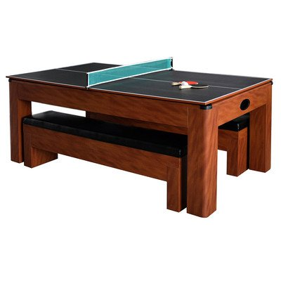 Sherwood 7' Air Hockey / Table Tennis - Pong Table Ping Unit