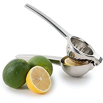 Lemon Squeezer, Stainless Steel Lime Juicer Squeezer, Manual Press Citrus Juicer