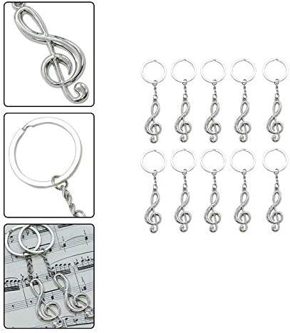 Jingyuu10PCS Porte-cl/és Note de Musique Femme Homme Pendentif Cadeau Sacs D/écoratifs et T/él/éphone Portable