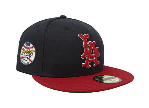 New Era Men's Hat Angels Anaheim Sandlot 25th Anniversary 59Fifty Fitted Cap (7 (25th Anniversary Cap)