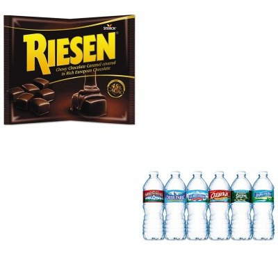 kitnle101243rsn035926-value-kit-riesen-chewy-chocolate-caramel-rsn035926-and-nestle-bottled-spring-w