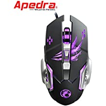 Eletty 3200dpi Led Optical Gaming Mouse 6 Buttons Usb Wired 5 Million Cycle Mice for Pc (black)