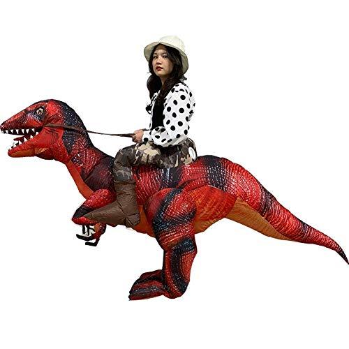 Inflatable Raptor Riding a Raptor Dinosaur Deluxe Costume Velociraptor Inflatable Dinosaur Costume T-Rex Fancy Dress Halloween Suit Riding -