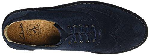ClarksDarble Limit - Zapatos de Vestir hombre Azul (Navy Suede)