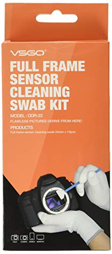 (Professional Cleaning Kit for DSLR Cameras Full Frame (CCD/CMOS) Sensor Cleaning Swabs (10 X 24mm Swabs))