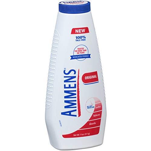 - Ammens Original Medicated Powder, Talc Free Formula, 11 Ounce