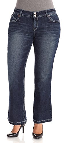 UPC 883459844193, WallFlower Plus Size Luscious Curvy Plus Short Inseam Bootcut Jeans in Natalie Size: 18 Plus Short