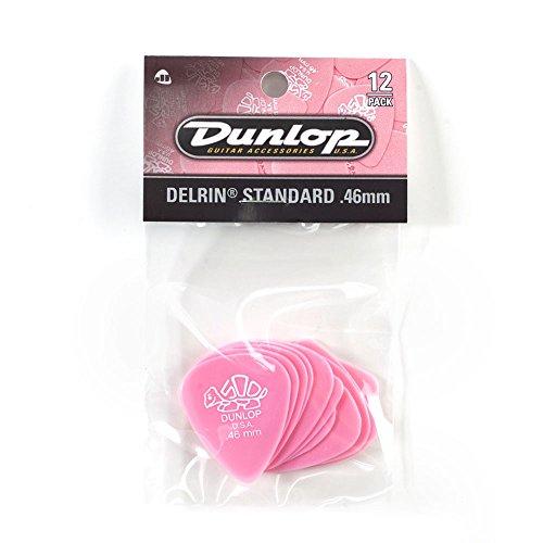 Dunlop 41P.46 Delrin, Light Pink, .46mm, 12/Player's - Jim Pink