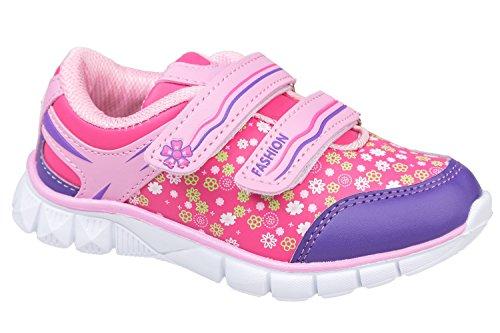 gibra - Zapatillas de Material Sintético para niño Pink/Rosa
