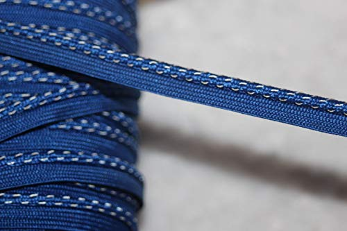 Sewing Craft DIY - 5 Yards Royal Blue Lip Cord Piping Reflective Upholstery Trim 1/8 3/8 Wide - Trims Variety of Colors, Styles and Materials ()