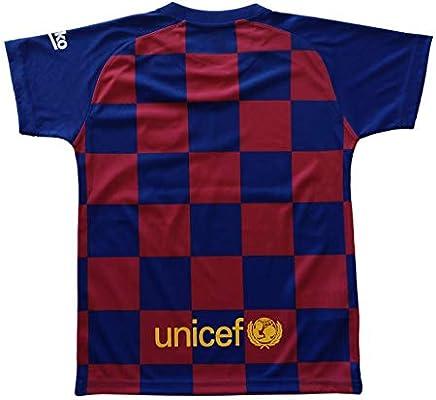 Conjunto Camiseta y pantalón 1ª equipación FC. Barcelona 2019-20 - Replica Oficial con Licencia - Dorsal Liso - Niño Talla 12: Amazon.es: Deportes y aire libre