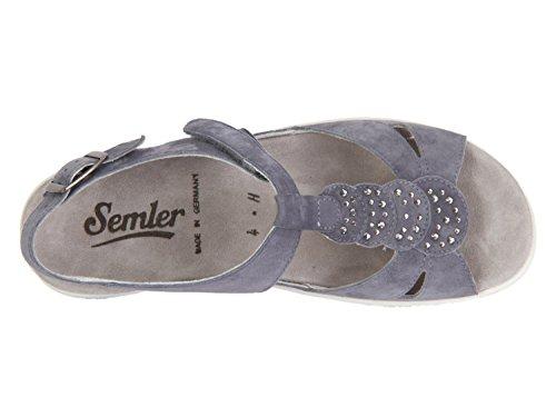 Semler Dunja Aqua Samtchefro - D4125042072 Blå