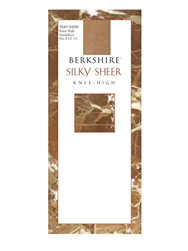 Knee Highs Sandalfoot Toe - Berkshire Women's Silky Sheer Knee High Sandalfoot Pantyhose 6380, City Beige, 8 1/2 - 11