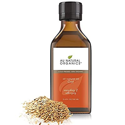 Oat Oil by Au Natural Organics-100% Natural, Cold Pressed, Antioxidant Organic Face Moisturizer, Holistic Skin Body Dry Hair & Nails Care, Nourishing & Anti Aging, Vegan-Cruelty Free, for Women