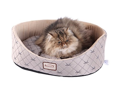 Armarkat Cat Bed, Pale Silver and Beige Review