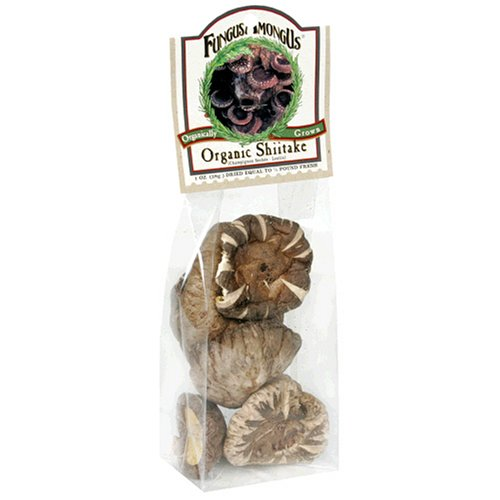 FungusAmongUs Dried Mushrooms, Organic Shiitake, 1-Ounce Units (Pack of 4)