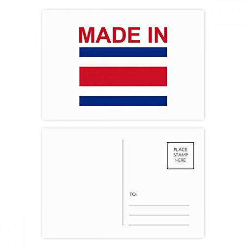 Made In Costa Rica Country Love Postcard Set Birthday Thanks Card Mailing Side 20pcs ()