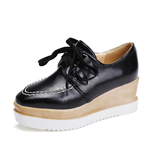 In Pompe shoes up Superiore Balamasa Zeppa Parte Pizzo Black 1Stwqf
