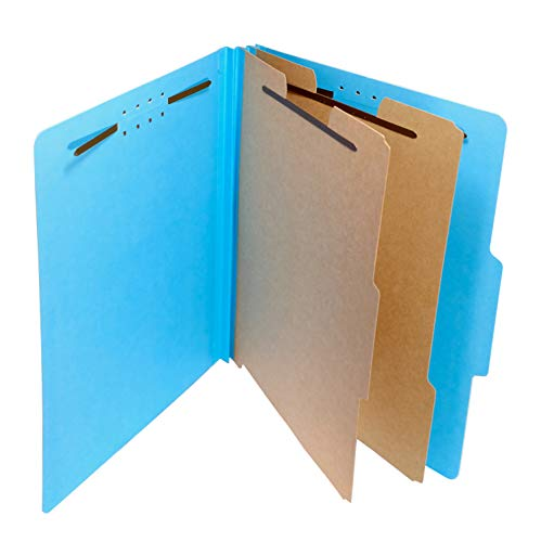 (12 iBUY 100% Recycled Pressboard Classification File Folder with Fasteners, 2 Dividers, 2