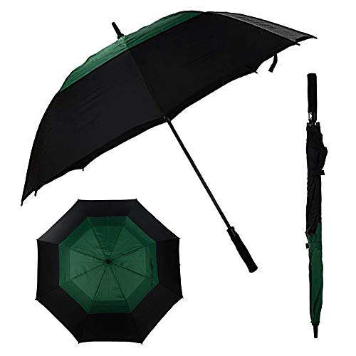 (L'about - Large Automatic Open Golf Umbrella | 68-Inch Windproof and Waterproof Stick Umbrella | Superior Strength, Unrivaled Protection from Rain, Wind and Sun | Includes Shoulder Carrying Case )