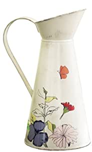 Tag Metal Watering Pitcher, Sarah's Garden, 11.875-Inches Tall x 5.875-Inches Diameter
