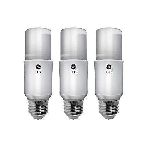 GE Lighting 63592 LED Brightstik 9-watt (60-watt Replacement), 800-Lumen Light Bulb with Medium Base, Daylight, 3-pack