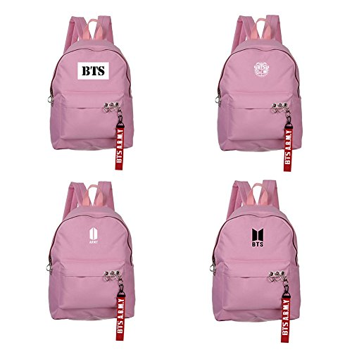 Unisex Starry BTS KPOP Satchel Pink Skisneostype Bangtan Sky Schoolbag Boys Backpack 5 Bags Sports Canvas qwtTfn04