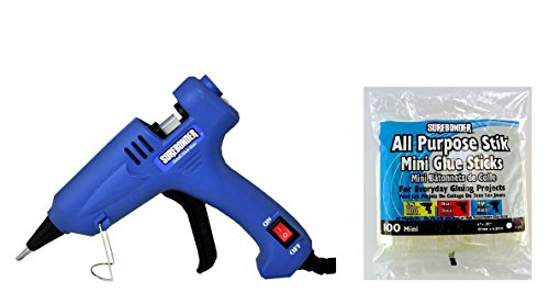 Surebonder H-195 Mini Detailed Glue Gun + 100 All Purpose Stik Mini Glue Sticks 4 (colour may vary)