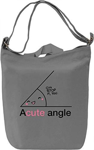 Acute Angle Borsa Giornaliera Canvas Canvas Day Bag| 100% Premium Cotton Canvas| DTG Printing|