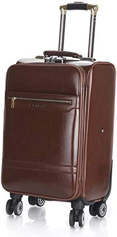 Zxl-xlx Luggage Trolley Box Male 24 inch 16 Small Business Suitcase Boarding Password Box 20 inch Suitcase Female Universal Wheel Tide Color : Light Brown, Size : 20