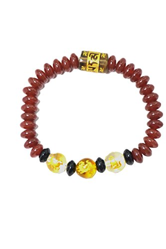 Chinese Horoscope allies Feng Shui jewelry tiger , horse and dog combine fire element bracelets for Good Luck ( women (Chinese Horse Stone)