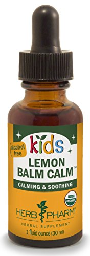 Herb Pharm Kids Certified-Organic Alcohol-Free Lemon Balm Calm Liquid Extract, 1 Ounce - Pharms Lemon Balm