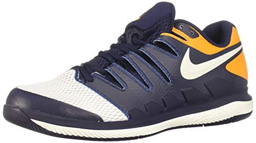 Nike Men's Zoom Vapor X Tennis Shoes (10 D US, Blackened Blue/Phantom/Orange Peel) (Nike Zoom Vapor Carbon Fly Td Cheap)