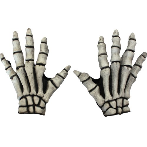 Ghoulish Costumes - White Bones Skeleton Gloves Costume Accessory