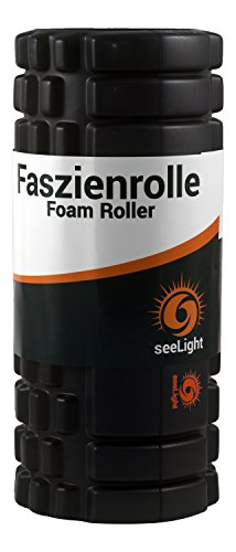 Faszienrolle • MYO • Foam Roller von seeLight - zur Massage der Triggerpunkte und Faszien - geeignet für Fitness, Pilates und hilfreich gegen Schmerzen im Rücken und Nacken - für die Behandlung vor und nach dem Sport - Rund-Um-Sorglos-Garantie
