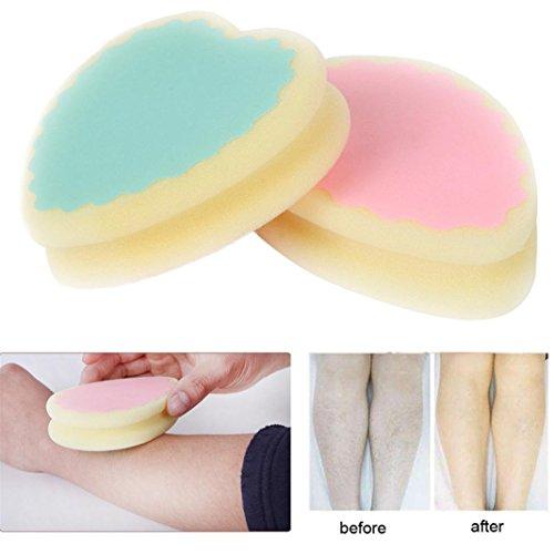 Sponge Pad Remove Hair, PLENTOP 2018 Magic Painless Hair Removal Depilation Sponge Pad Remove Hair Leg Arm Hair Remover Effective