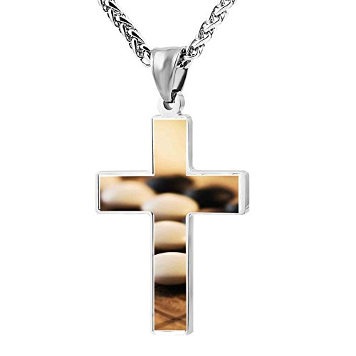 LUQeo Cross Necklace Rose Christ Cross Necklace Fashion Religious Jewelry Pendant