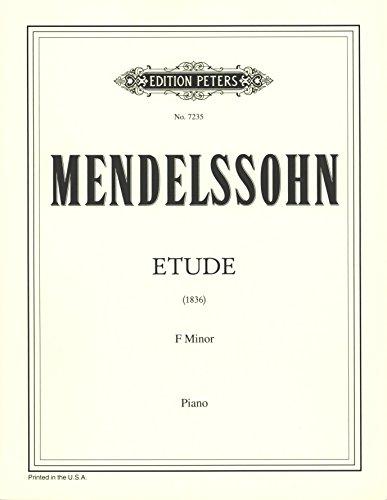 Mendelssohn: Etude in F Minor, WoO 1