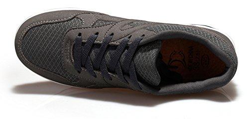 Las Zapatillas Con Estilo De La Plataforma De Las Mujeres De Ausom Entonan Los Zapatos Que Caminan La Aptitud Del Entrenamiento De La Aptitud De La Zapatilla Gris Oscuro