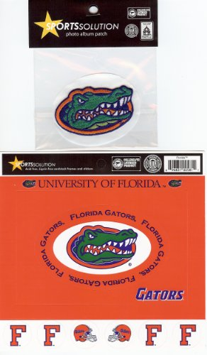 Cardstock Frames Die Cuts - Sports Solution The University of Florida 11 Piece Custom Package of Officially Licensed Collegiate College Cardstock Frames, Die Cuts & Embroidered Patch