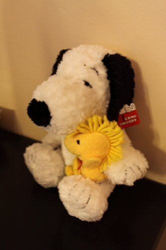 (Plush Peanuts Snoopy Dog and Woodstock Bird Stuffed Character Toys Camp Snoopy Merchandise)