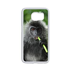 Personality customization Diy Customize Lovely Monkey Pattern Shell Phone Cover Case for samsung galaxy s6 edge White By CUY Cases
