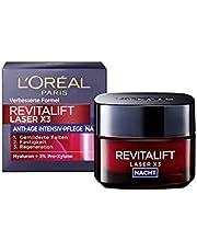 L'Oréal Paris Revitalift Laser X3 Nachtverzorging, Anti-Aging Crème Masker Met 3-Voudige Werking, Hyaluronzuur, 50 Ml