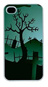 Eerie Dusk11 Custom iPhone 4s/4 Case Cover Polycarbonate White