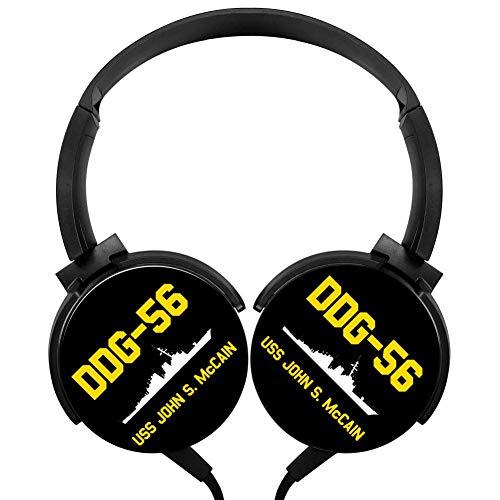 GcDIk DDG-56 USS John S. McCain Stereo Deep Bass Wired Headphones Earphone