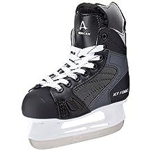 American Athletic Shoe Boy's Ice Force Hockey Skates, Black